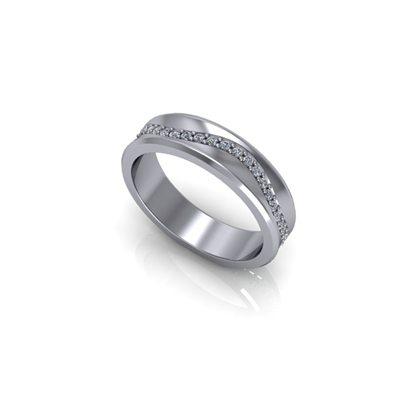 Gents-diamond-set-wave-pattern-wedding-ring-2
