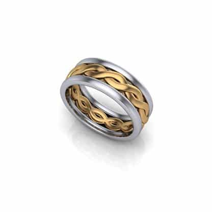 Gents-yellow-and-white-twist-wedding-ring-2