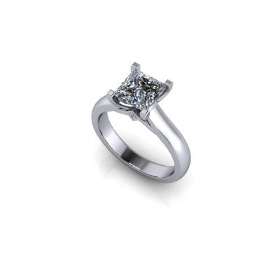 Princess s stone engagement ring