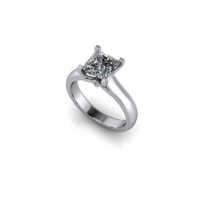 Princess s stone engagement ring