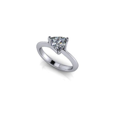 Trillion cut diamond engagement ring